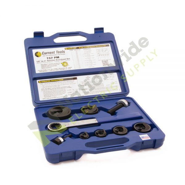 Nationwide Electric Current Tools 157pm Ratchet Knockout Set