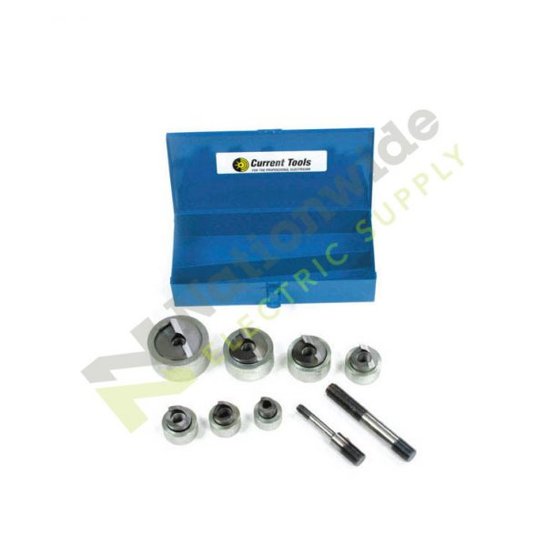 Nationwide Electric Current Tools 160SS Heavy Duty Piece Maker Stainless Steel Knockout Set