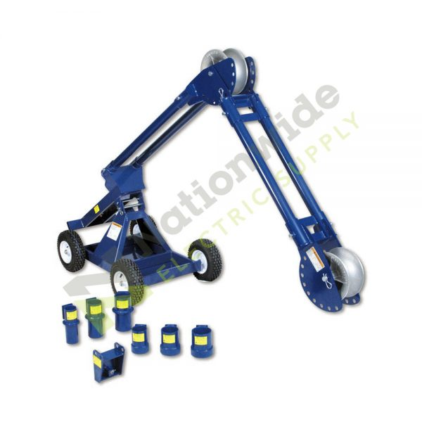 Nationwide Electric Current Tools 8090 mantis mobile cable pulling carriage with 2 boom sections