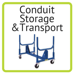 Current Tools conduit storage and conduit transport available for rent at Nationwide Electric